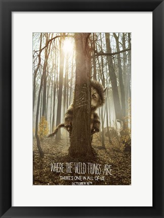 Framed Where the Wild Things Are - style B Print