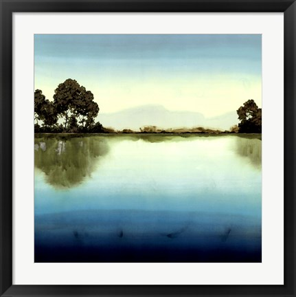 Framed Azure Lake Print