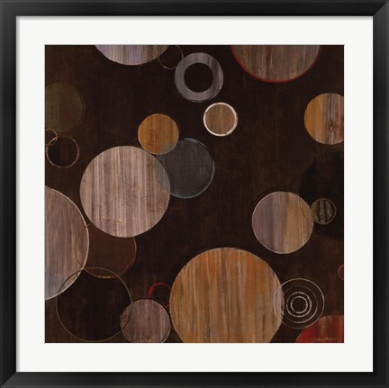 Framed Warm Bubbles Print
