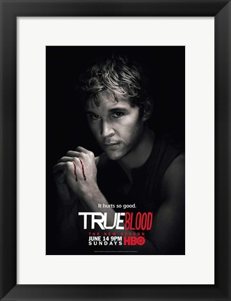 Framed True Blood - Season 2 - Ryan Kwanten [Jason] Print