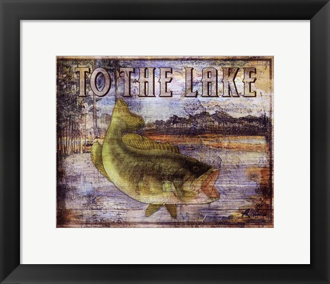 Framed To the Lake Print