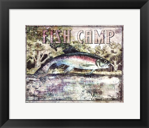 Framed Fish Camp Print