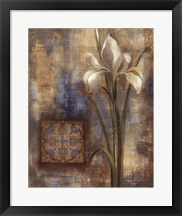 Framed Iris and Tile Print