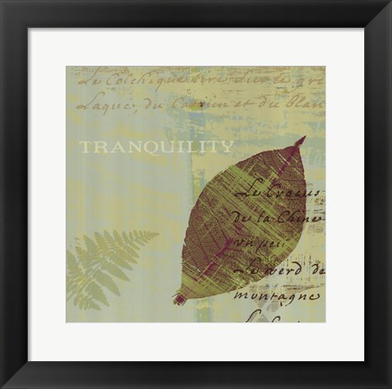 Framed Tranquility Print
