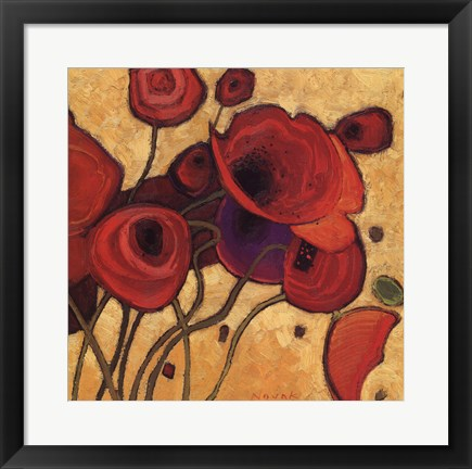 Framed Poppies Wildly II Print