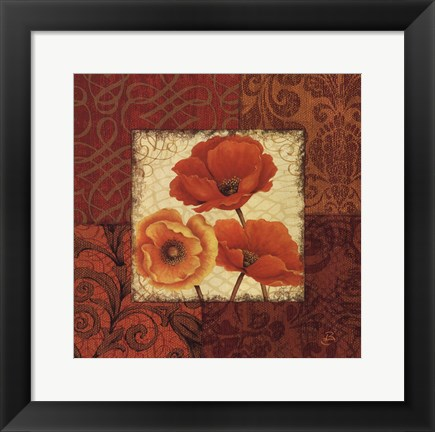 Framed Poppy Spices II Print
