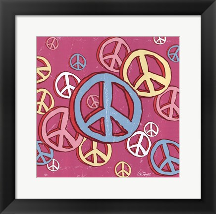 Framed Peace Baby Print
