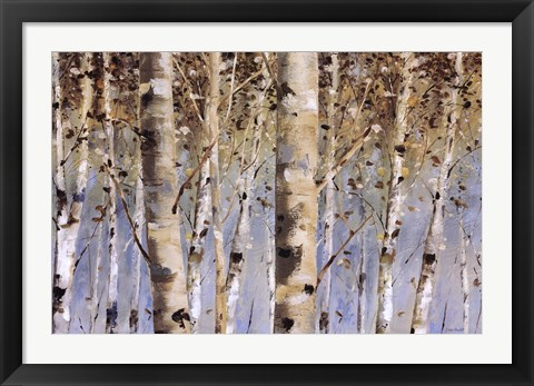 Framed White Forest I Print
