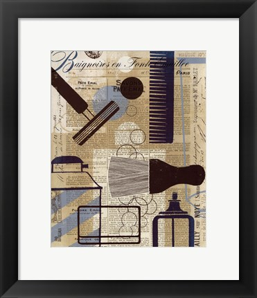 Framed French Spa II Print