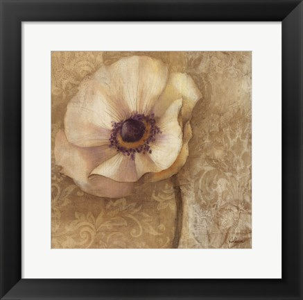 Framed Brocade Poppy Print