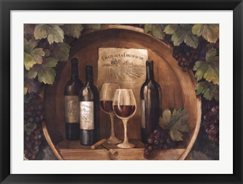 Framed At the Winery Print