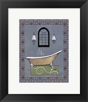 Framed Chandelier Bath IV Print