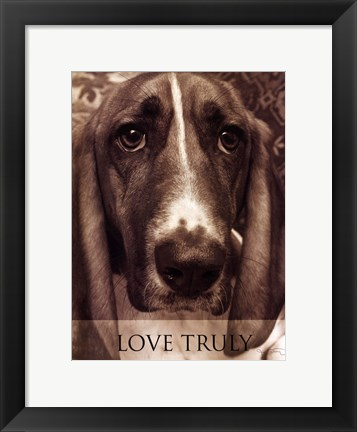 Framed Love Truly Print