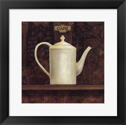 Framed Ornamental Teapot I Print