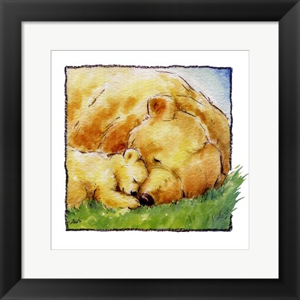 Framed Mother Bear's Love II Print