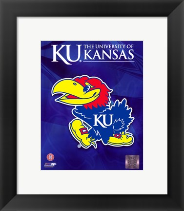 Framed 2009 University of Kansas Jayhawks Logo Print