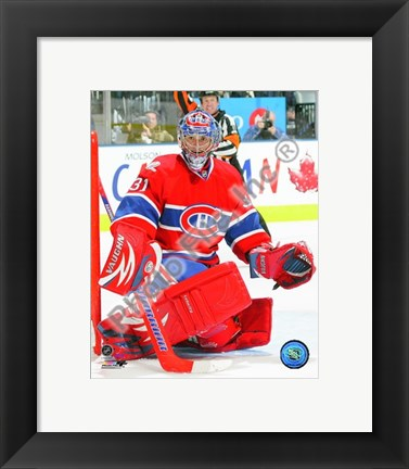 Framed Carey Price 2009-10 Action Print