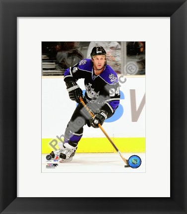 Framed Ryan Smyth 2009-10 Action Print