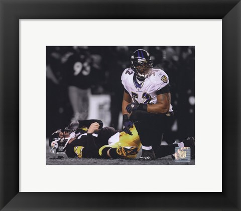 Framed Ray Lewis Spotlight Collection Print