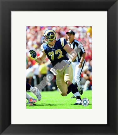 Framed Chris Long 2009 Action Print