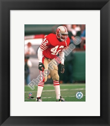 Framed Ronnie Lott Action Print