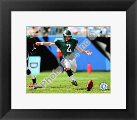 Framed David Akers 2009 Action Print