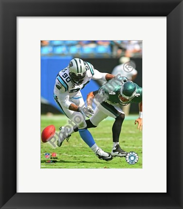 Framed Julius Peppers 2009 Action Print