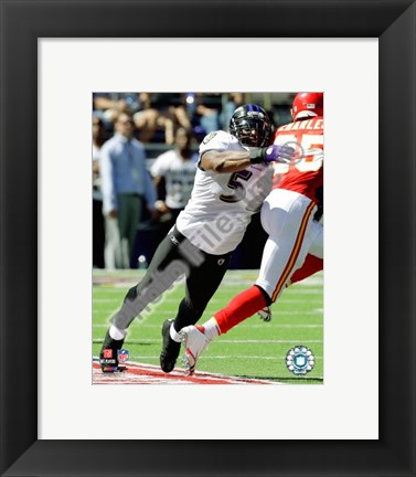 Framed Ray Lewis 2009 Action Print