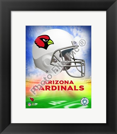 Framed 2009 Arizona Cardinals Team Logo Print