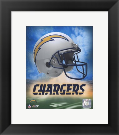 Framed 2009 San Diego Chargers logo Print