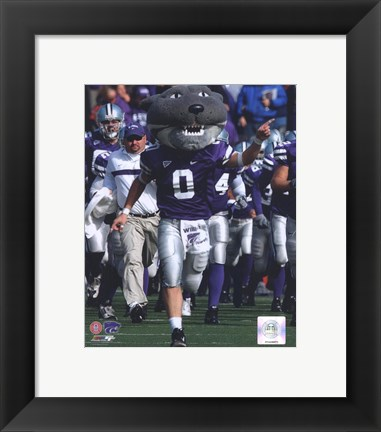 Framed Willie Wildcat Kansas State University Wildcats Mascot 2006 Print