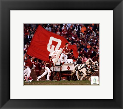 Framed Sooner Schooner Mascot of the Oklahoma Sooners 2007 Print