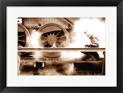 Framed Steam (Sepia) Print