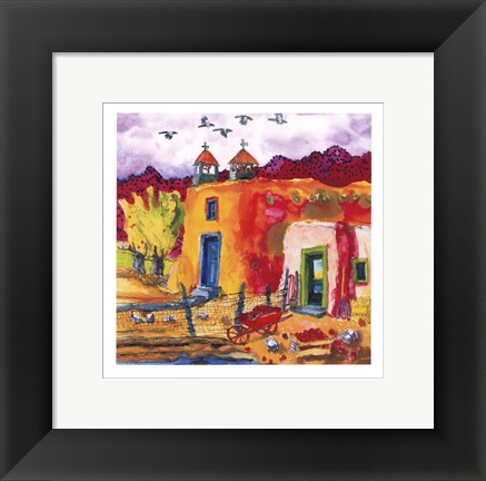 Framed Flight At Dusk Print