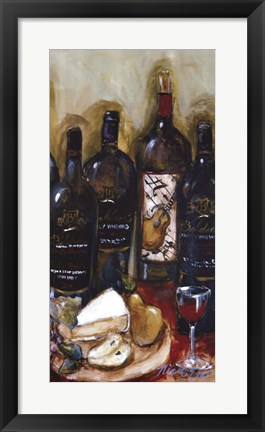 Framed Wine Tasting Panel III Print