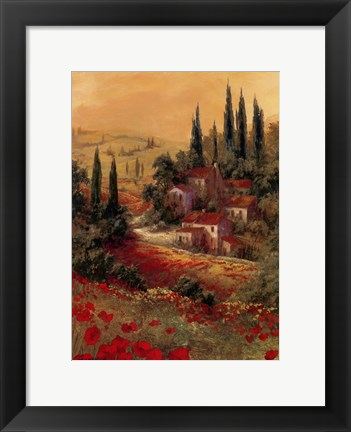 Framed Toscano Valley II Print
