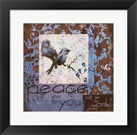 Framed Bluebird 2 Print