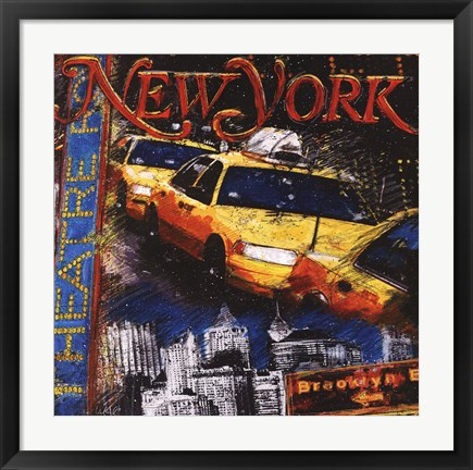 Framed New York Print