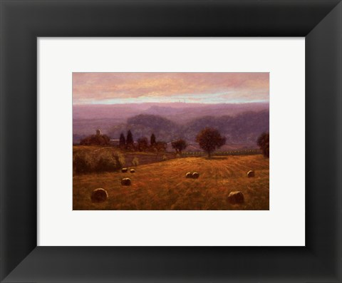 Framed Siena Towers From Montaperti Print