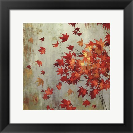 Framed Crimson Foliage Print
