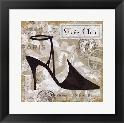 Framed Chaussures II Print