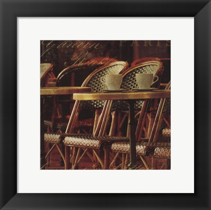 Framed Parisian Cafe IV Print