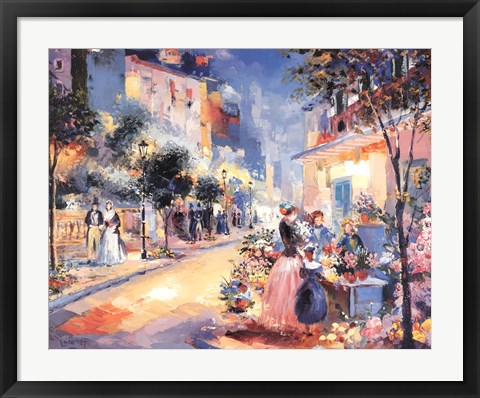 Framed City Streets Print