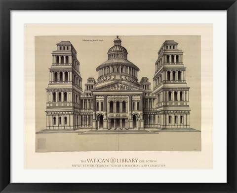 Framed Portail de Temple, (The Vatican Collection) Print