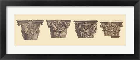 Framed Capitals II, (The Vatican Collection) Print