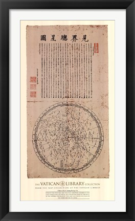Framed Map of the Main Stars in the Visible Realm, (The Vatican Collection) Print