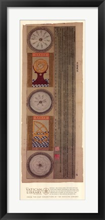 Framed Section 1 - Eight Part Chinese Astrological Map, (The Vatican Collection) Print
