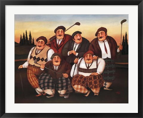 Framed Golf Club Print