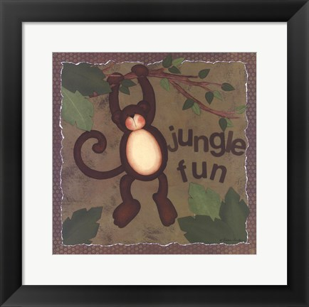 Framed Jungle Fun Print
