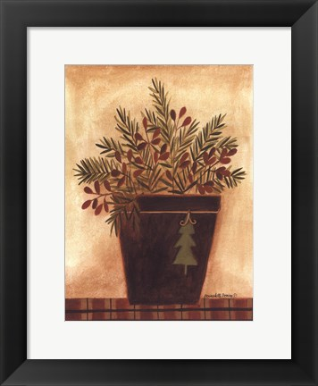 Framed Pines in a Bucket Print
